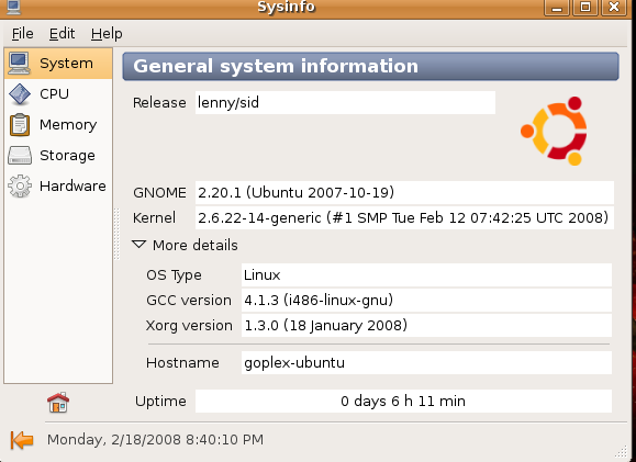 Verifica la Información de tu Ubuntu con Sysinfo