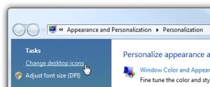 Restablece los Iconos (del Desktop) en Windows Vista