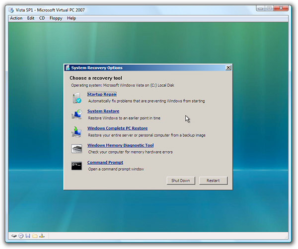 Programa de la Semana: Windows Vista Recovery CD