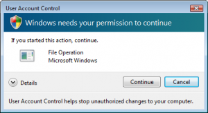 "Desactiva el ""User Account Control"" (UAC) de Windows Vista"